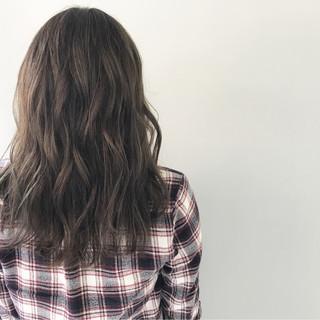 外国人風カラー 外国人風 透明感 セミロング ヘアスタイルや髪型の写真・画像