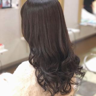 フェミニン 大人かわいい セミロング オフィス ヘアスタイルや髪型の写真・画像
