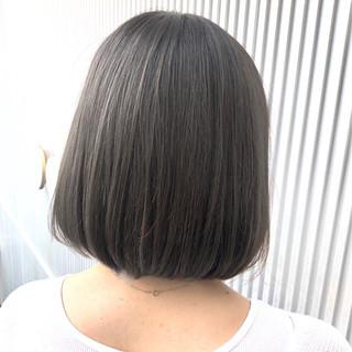 グレージュ ボブ 前髪 髪質改善 ヘアスタイルや髪型の写真・画像