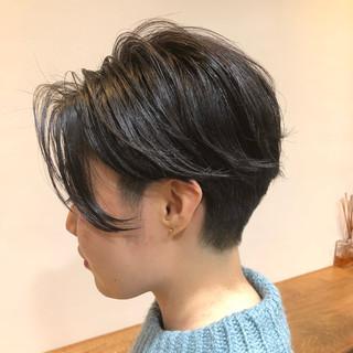 ミニボブ ベリーショート ナチュラル インナーカラー ヘアスタイルや髪型の写真・画像