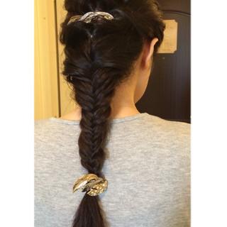 黒髪 大人かわいい ロング 編み込み ヘアスタイルや髪型の写真・画像 ヘアスタイルや髪型の写真・画像