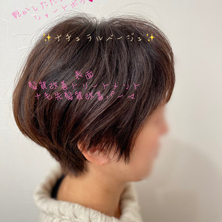 ショートヘア ウルフカット ショートボブ モード ヘアスタイルや髪型の写真・画像