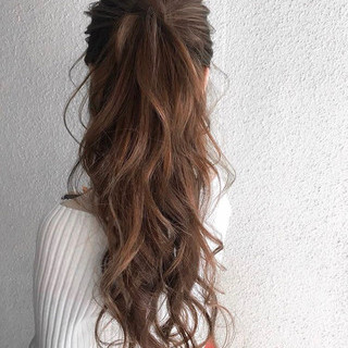 簡単ヘアアレンジ ロング ヘアアレンジ デート ヘアスタイルや髪型の写真・画像 ヘアスタイルや髪型の写真・画像