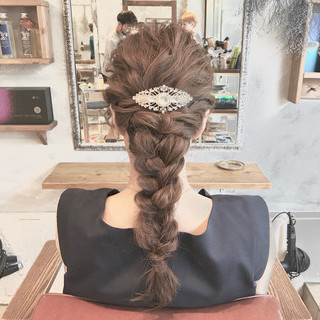 ショート ナチュラル 結婚式 簡単ヘアアレンジ ヘアスタイルや髪型の写真・画像
