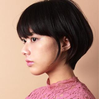 こなれ感 大人女子 外国人風カラー ショート ヘアスタイルや髪型の写真・画像