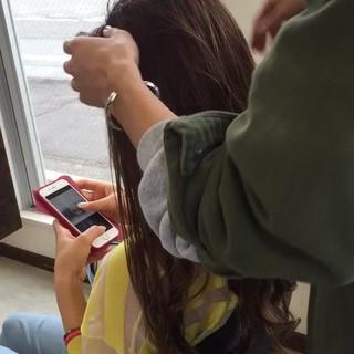 お団子 ルーズ ヘアアレンジ 簡単ヘアアレンジ ヘアスタイルや髪型の写真・画像
