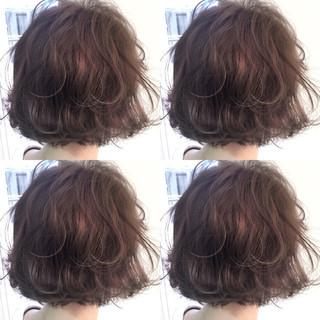 ボブ 外国人風 アッシュ グラデーションカラー ヘアスタイルや髪型の写真・画像