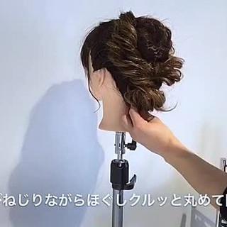 大人かわいい ルーズ 上品 結婚式 ヘアスタイルや髪型の写真・画像