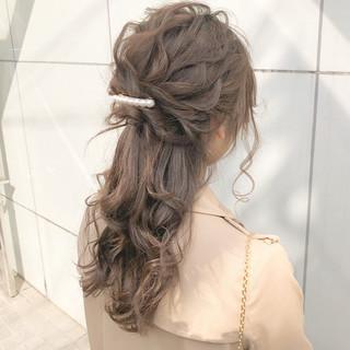 ロング ナチュラル 結婚式 ヘアアレンジ ヘアスタイルや髪型の写真・画像 ヘアスタイルや髪型の写真・画像