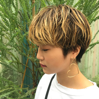 マッシュ 似合わせ ショート 小顔 ヘアスタイルや髪型の写真・画像