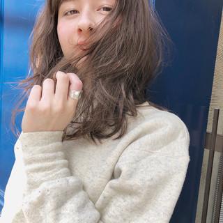 ゆるふわ ヘアアレンジ ガーリー デート ヘアスタイルや髪型の写真・画像