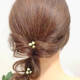セミロング ナチュラル 成人式 結婚式 ヘアスタイルや髪型の写真・画像