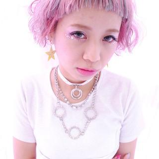 色気 ボブ 外国人風 ガーリー ヘアスタイルや髪型の写真・画像