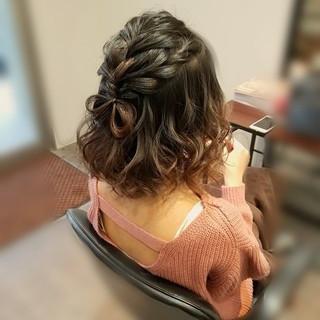 ヘアアレンジ ハーフアップ フェミニン ガーリー ヘアスタイルや髪型の写真・画像 ヘアスタイルや髪型の写真・画像