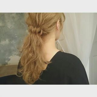 ショート ヘアアレンジ ポニーテール 簡単ヘアアレンジ ヘアスタイルや髪型の写真・画像