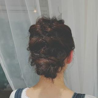 フェミニン ヘアアレンジ 簡単ヘアアレンジ 大人かわいい ヘアスタイルや髪型の写真・画像