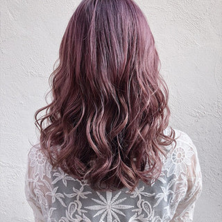 ミディアム 大人女子 女子力 ピンク ヘアスタイルや髪型の写真・画像