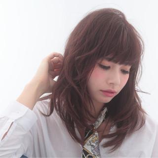 ゆるふわ 大人かわいい 暗髪 ロング ヘアスタイルや髪型の写真・画像