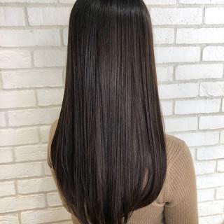 ナチュラル 髪質改善 ロング 暗髪 ヘアスタイルや髪型の写真・画像