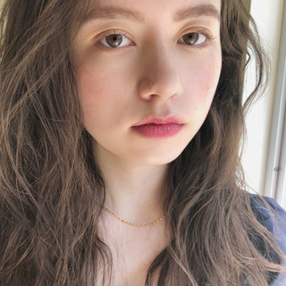 アウトドア ガーリー 大人かわいい セミロング ヘアスタイルや髪型の写真・画像