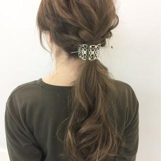 ポニーテール 編み込み ショート 大人女子 ヘアスタイルや髪型の写真・画像 ヘアスタイルや髪型の写真・画像