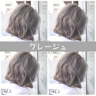 ナチュラル グレージュ インナーカラー 外国人風カラー ヘアスタイルや髪型の写真・画像