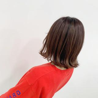 ピンク ミディアム ピンクベージュ N.オイル ヘアスタイルや髪型の写真・画像