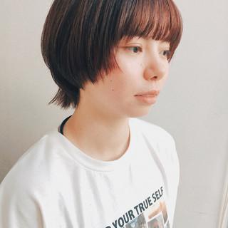 ナチュラル 小顔ショート マッシュウルフ パーマ ヘアスタイルや髪型の写真・画像