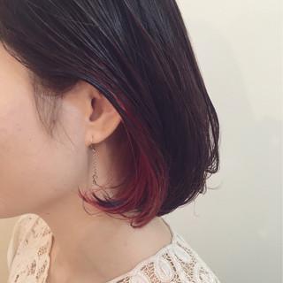 ウェットヘア ガーリー 大人女子 ボブ ヘアスタイルや髪型の写真・画像