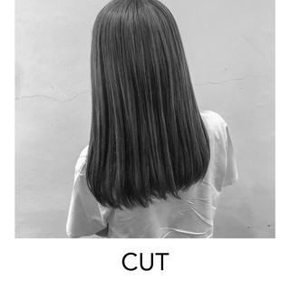 ミディアム 簡単ヘアアレンジ ナチュラルグラデーション ナチュラル ヘアスタイルや髪型の写真・画像