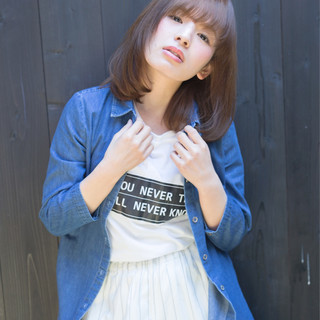 大人女子 大人かわいい ナチュラル ボブ ヘアスタイルや髪型の写真・画像
