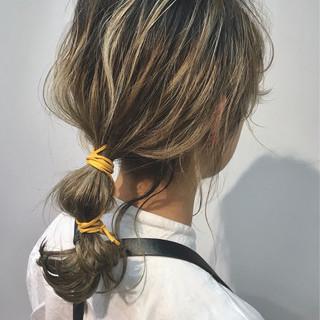 パーティ ガーリー セミロング ヘアセット ヘアスタイルや髪型の写真・画像