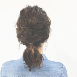 簡単ヘアアレンジ ショート ボブ くるりんぱ ヘアスタイルや髪型の写真・画像
