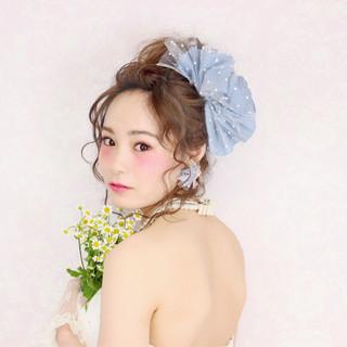 花嫁 ショート フェミニン 簡単ヘアアレンジ ヘアスタイルや髪型の写真・画像