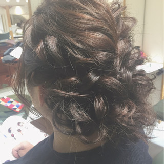 エレガント 上品 ヘアアレンジ ロング ヘアスタイルや髪型の写真・画像