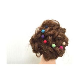 大人かわいい ショート ヘアアレンジ フェミニン ヘアスタイルや髪型の写真・画像 ヘアスタイルや髪型の写真・画像