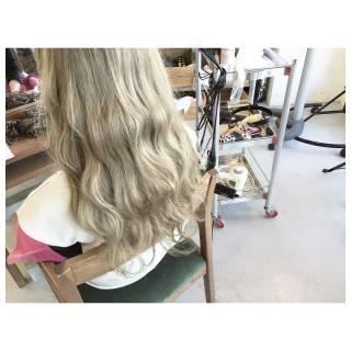 グラデーションカラー 外国人風 セミロング ダブルカラー ヘアスタイルや髪型の写真・画像