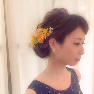 大人かわいい ショート 夏 ヘアアレンジ ヘアスタイルや髪型の写真・画像