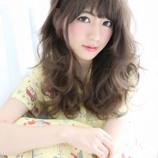 前髪あり ガーリー イルミナカラー セミロング ヘアスタイルや髪型の写真・画像