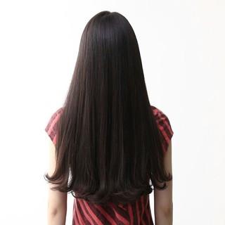 ロング モード 外ハネ ワンカール ヘアスタイルや髪型の写真・画像