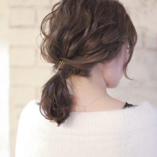 結婚式 ミディアム ショート ヘアアレンジ ヘアスタイルや髪型の写真・画像