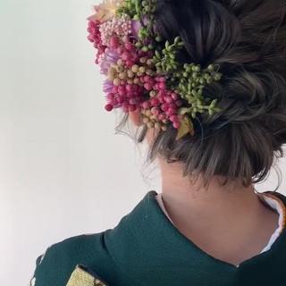 ボブ 結婚式 成人式 ナチュラル ヘアスタイルや髪型の写真・画像