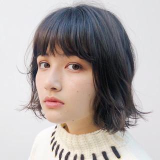 ミニボブ まとまるボブ うる艶カラー ナチュラル ヘアスタイルや髪型の写真・画像 ヘアスタイルや髪型の写真・画像
