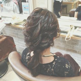 まとめ髪 ショート 編み込み ゆるふわ ヘアスタイルや髪型の写真・画像