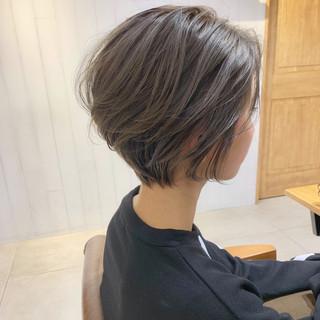 パーマ ショート ナチュラル ヘアアレンジ ヘアスタイルや髪型の写真・画像 ヘアスタイルや髪型の写真・画像