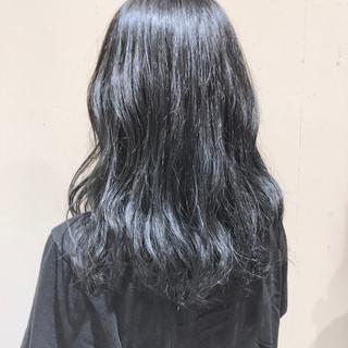 セミロング 外国人風カラー ゆるふわ ウェーブ ヘアスタイルや髪型の写真・画像