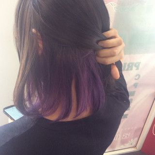 ガーリー ヘアカラー インナーカラー #インナーカラー ヘアスタイルや髪型の写真・画像