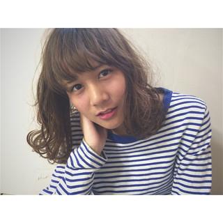 前髪あり 外国人風 ゆるふわ ピュア ヘアスタイルや髪型の写真・画像