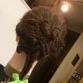 夏 ヘアアレンジ ロング フィッシュボーン ヘアスタイルや髪型の写真・画像