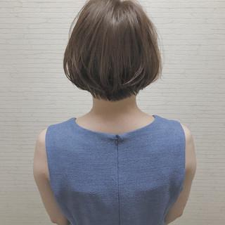 アウトドア ボブ インナーカラー 女子会 ヘアスタイルや髪型の写真・画像